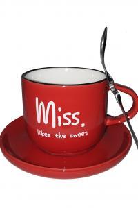 Кружка c блюдцем и ложкой Great Coffee Бариста-эспрессо 200 мл  (53546)