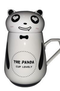 Кружка с крышкой Great Coffee  Панда 300 мл  (52445)
