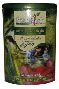 Чай зеленый с ананасом, гранатом, сливками и лепестками цветов FemRich Семь испанских ангелов 200 г (52653)
