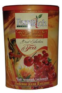 Чай зеленый с клюквой, вишней, шафраном и лепестками цветов FemRich Любовное зелье Купидона 200 г   (53370)