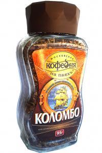 Кофе растворимый Кофейня на паяхъ Коломбо 95 г в стеклянной банке (52563)