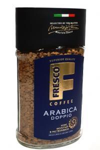 Кофе растворимый с добавлением молотого Fresco Arabica Doppio 100 г в стеклянной банке (53130)