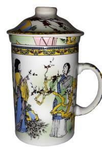 Кружка с керамическим ситом Great Coffee  В саду 350 мл  (YM3-M23)