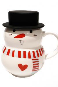 Кружка с крышкой Great Coffee Сеньор Снеговик 350 мл (53253)