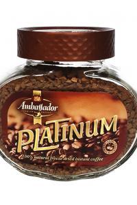 Кофе растворимый Ambassador Platinum 47,5 г в стеклянной банке