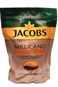 Кофе растворимый с добавлением молотого Jacobs Millicano Espresso 150 г