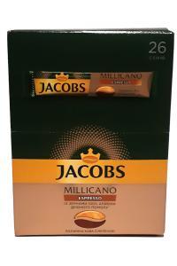 Кофе растворимый с добавлением молотого Jacobs Millicano Espresso в стиках 26 х 1,8 г (52922)