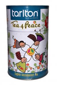 Чай черный с цветами шафрана, гвоздики и маслом бергамота Tarlton Копилка Дружба 100 г в металлической банке