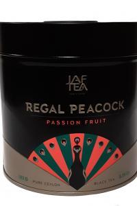 "Jaf Tea. Regal Peacock ""Passion Fruit"". Черный байховый чай с ароматом маракуйи, 180г, Ж/б"