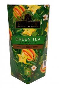 Чай зелений з карамболем Esster Green Tea Star Fruit 100 г в подарунковій картонній упаковці