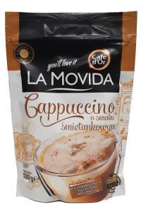 La Movida. Cappuccino o smaku Smitankowym. Растворимый кофейный напиток 3 в 1, 130г, мягкая упаковка