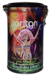 Чай зеленый с ароматом саусепа и персика и лепестками цветов Tarlton Танец Королевы 300 г (53057)