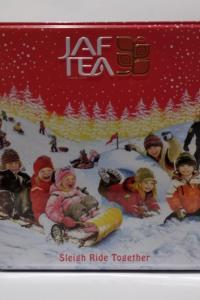 "Jaf Tea ""Sleigh Ride Together"", черный чай, 40 г крупный лист + 40 г средний лист, ж/б"