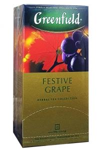 Чай черный с ароматом черники и сливок в пакетиках Greenfield Blueberry Nights 25 шт х 1,5 г (53231)