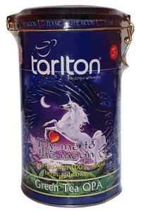 Чай зеленый с ароматом лотоса и лепестками цветов Tarlton Лунный полет 300 г  (53244)