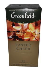 Чай черный с вербеной, ароматом цитрусовых и карамели в пакетиках Greenfield Easter Cheer 25 шт х 1,5 г