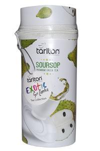 Чай зеленый листовой  Tarlton с кусочками и ароматом саусепа 75г ж/б с замком-молнией (54081)