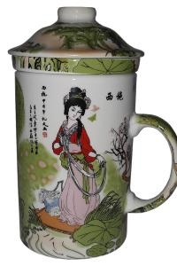 Кружка с керамическим ситом Great Coffee  Возле реки 350 мл   (52521)