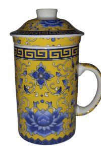 Кружка с керамическим ситом Great Coffee  Волшебный цветок 350 мл  (YM3-M111)