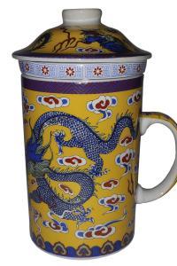 Кружка с керамическим ситом Great Coffee  Дракон 350 мл  (52524)