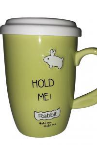 Кружка с керамическим ситом Great Coffee  Свежий кролик 475 мл  (О8030-68)