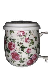 Чашка с металлическим ситом Great Coffee  Лесная песня 380 мл  (53523)