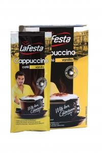 Кофейный напиток La Festa capuccino vanilla в стиках 10 х 12,5 г (577)