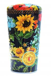 Чай черный с кусочками фруктов и лепестками цветов Chelton Ваза с полевыми цветами 100 г в металлической банке