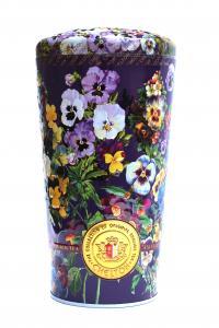 Чай черный с кусочками фруктов и лепестками цветов Chelton Ваза с анютиными глазками 100 г в металлической банке