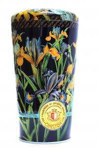 Чай черный с кусочками фруктов и лепестками цветов Chelton Ваза с ирисами 100 г в металлической банке