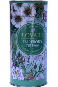 Чай зеленый с ароматом мандарина и лепестками жасмина Lovare Мечты императора 80 г в картонной тубе