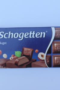 Schogetten Nugat, молочный шоколад с нугой, 100 г