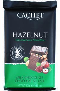 Шоколад Cachet Hazelnut Молочный с фундуком 300 г (52301)