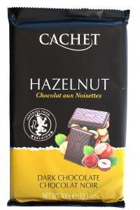 Шоколад Cachet Hazelnut Черный с фундуком 300 г (52302)