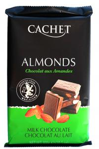 Шоколад Cachet Almonds Молочный с миндалем 300 г (52305)
