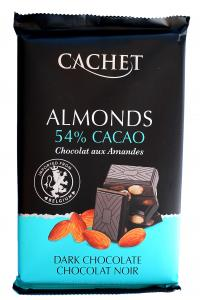 Шоколад Cachet Almonds Черный 54% с миндалем 300 г (52380)