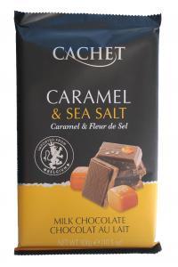 Cachet Caramel & Sea Salt, молочный шоколад с карамелью и морской солью, 300г