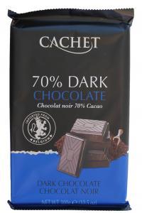 Шоколад Cachet DARK Черный горький 70% 300 г  (52304)