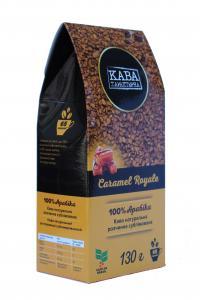 Кофе растворимый Кава Характерна Caramel Royale с ароматом карамели 130 г (52496)