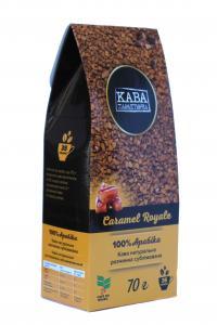 Кофе растворимый Кава Характерна Caramel Royale с ароматом карамели 70 г (52495)