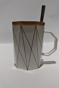 Кружка c крышкой и ложкой Great Coffee Кристалл 370 мл (О8030-84)