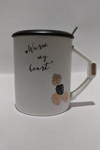 Кружка c крышкой и ложкой Great Coffee Fashion 370 мл (О8030-80)